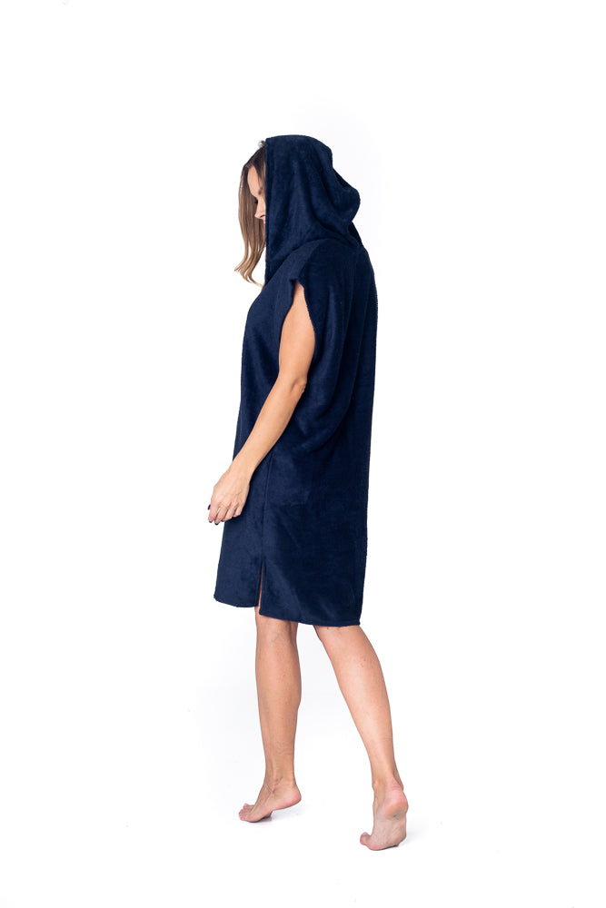 Sofa Killer dark blue bamboo frottee women poncho