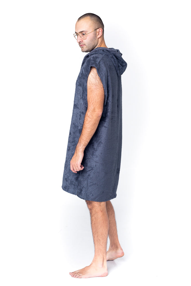 Sofa Killer dark grey bamboo frottee men poncho