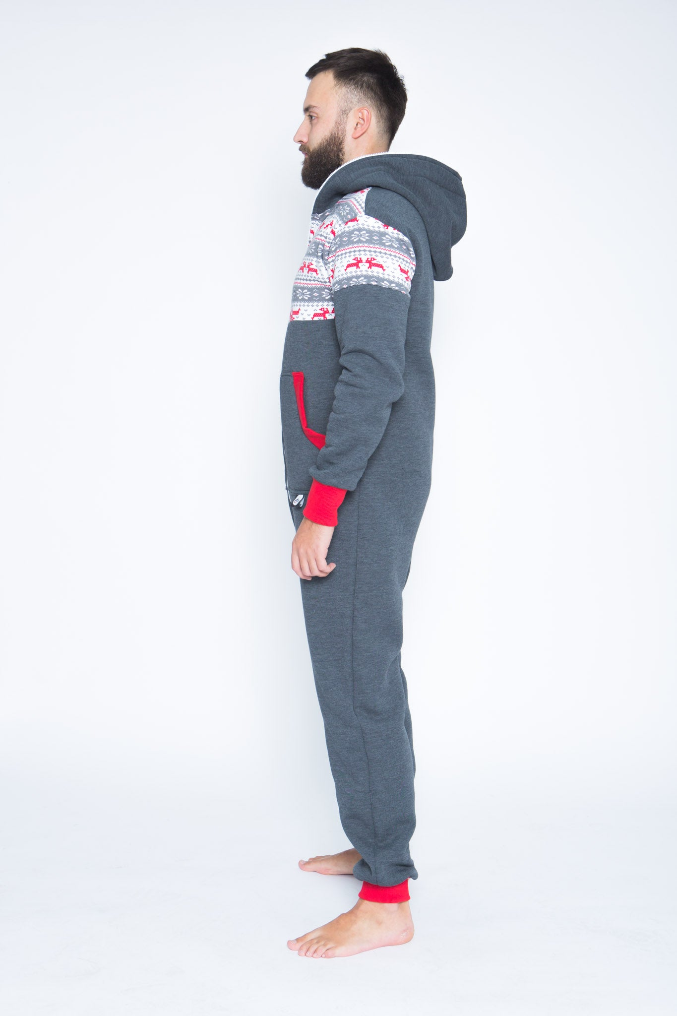 grey men nordic onesie sofa killer