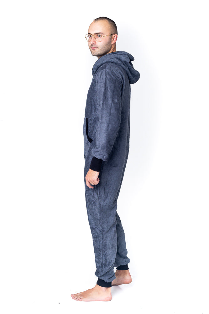Sofa Killer dark grey bamboo frottee men onesie