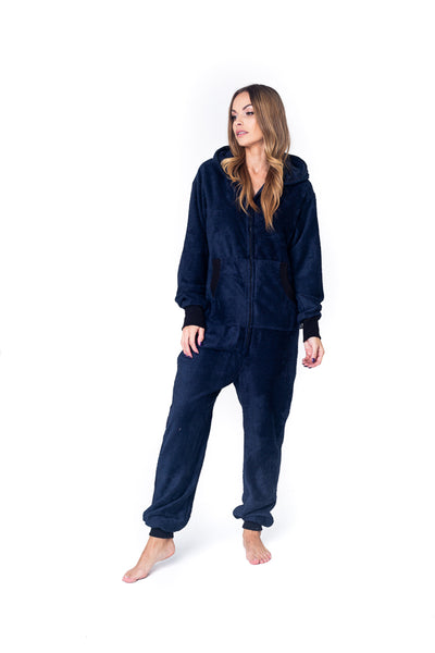 Sofa Killer dark blue bamboo frottee women onesie