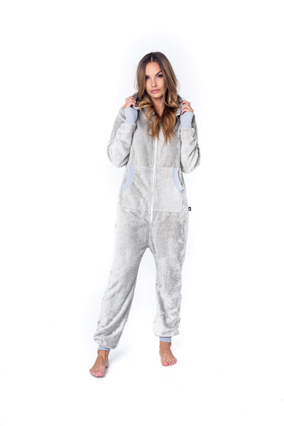 Sofa Killer light grey bamboo frottee women onesie