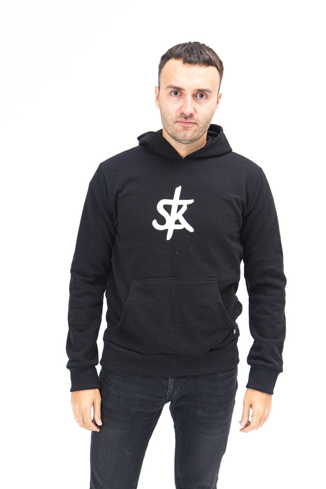 Sofa Killer warm black men hoodie with white SK logo