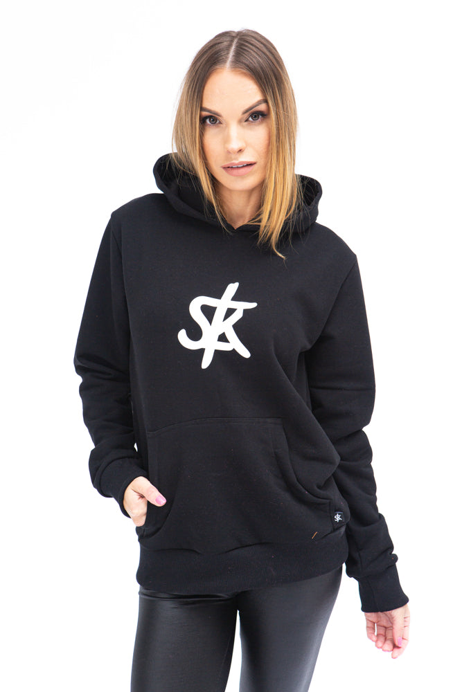 Sofa Killer warm black women hoodie with white SK logo