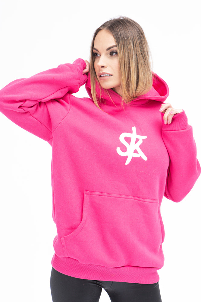 Sofa Killer warm pink women hoodie with white SK logo