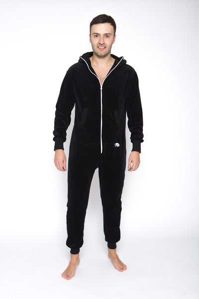 black men velours onesie