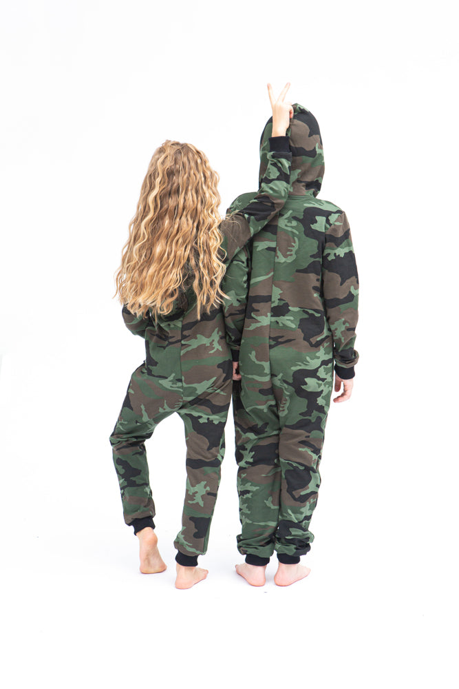 Sofa Killer unisex kids onesie with camouflage pattern CAMO