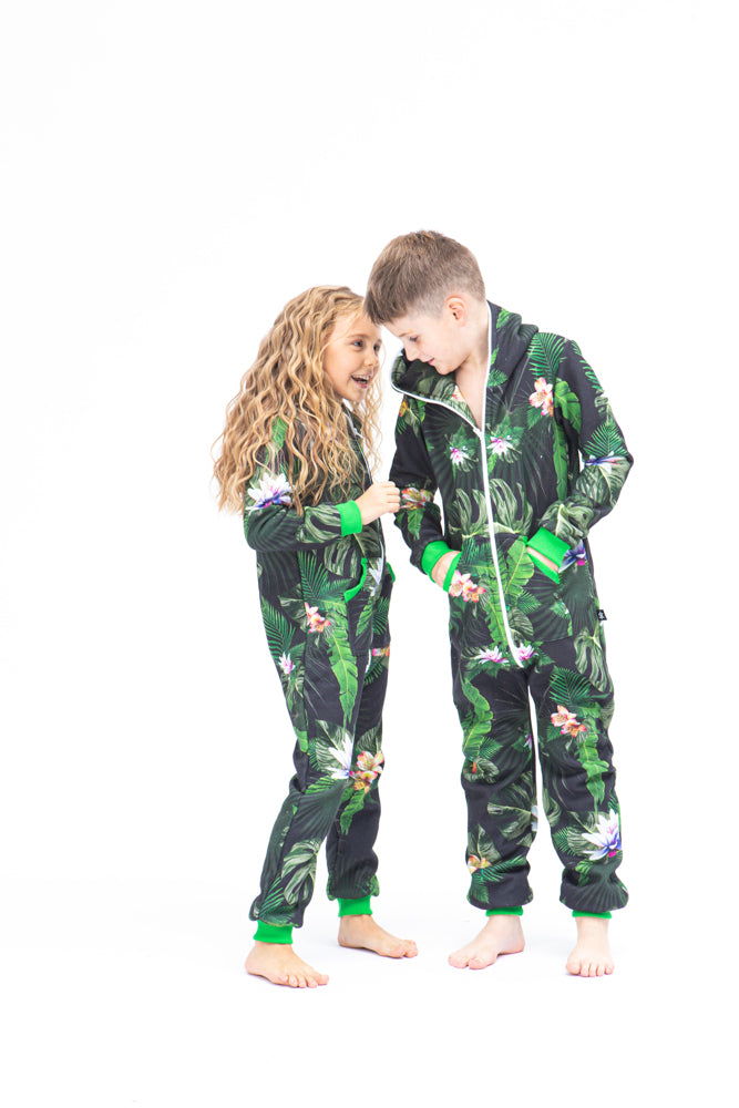 Sofa Killer unisex kids onesie with florals prints Tropical