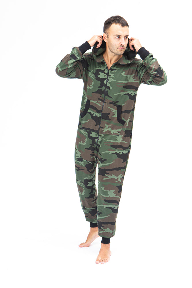 Sofa Killer men onesie with camouflage pattern CAMO