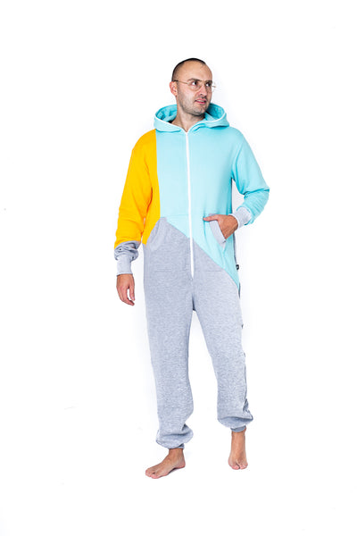 Sofa Killer tricolor men onesie Mint