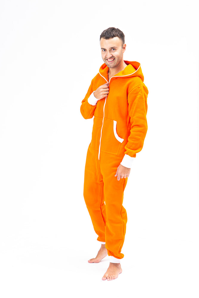 Sofa Killer orange men onesie with white cuff