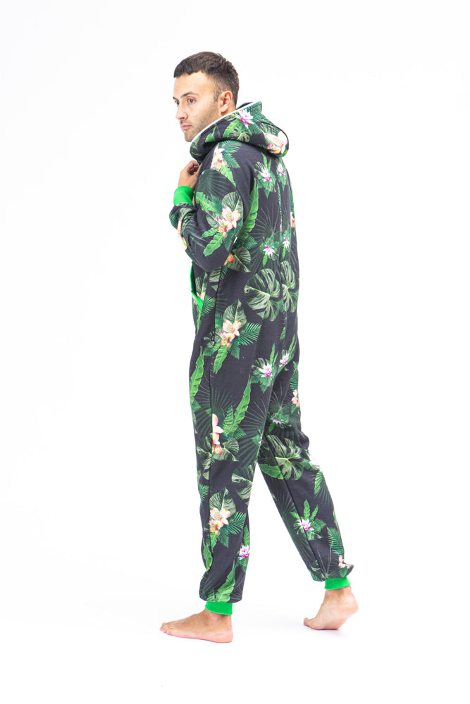 Sofa Killer men onesie with florals prints Tropical