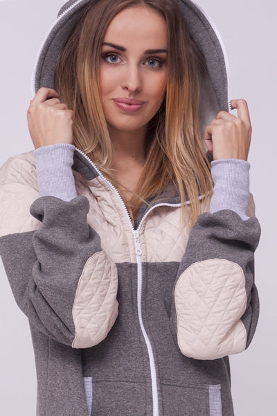 Sofa killer grey onesie with light grey applications