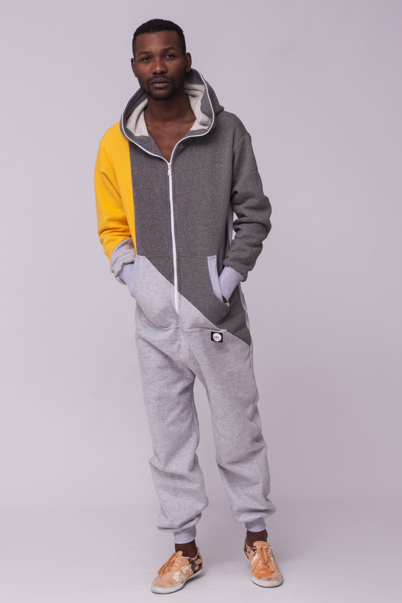 tricolour men onesie