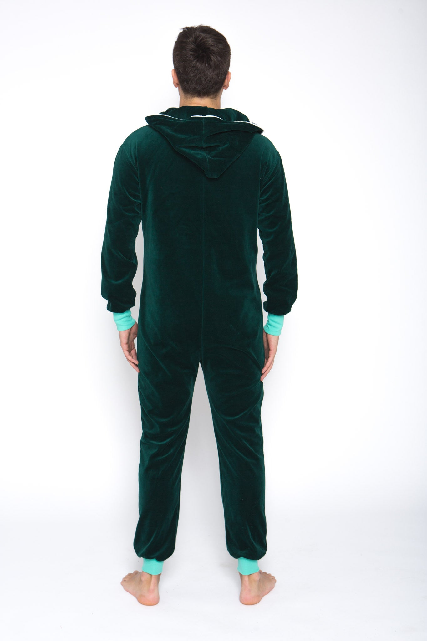 Sofa Killer emerald green velours men onesie