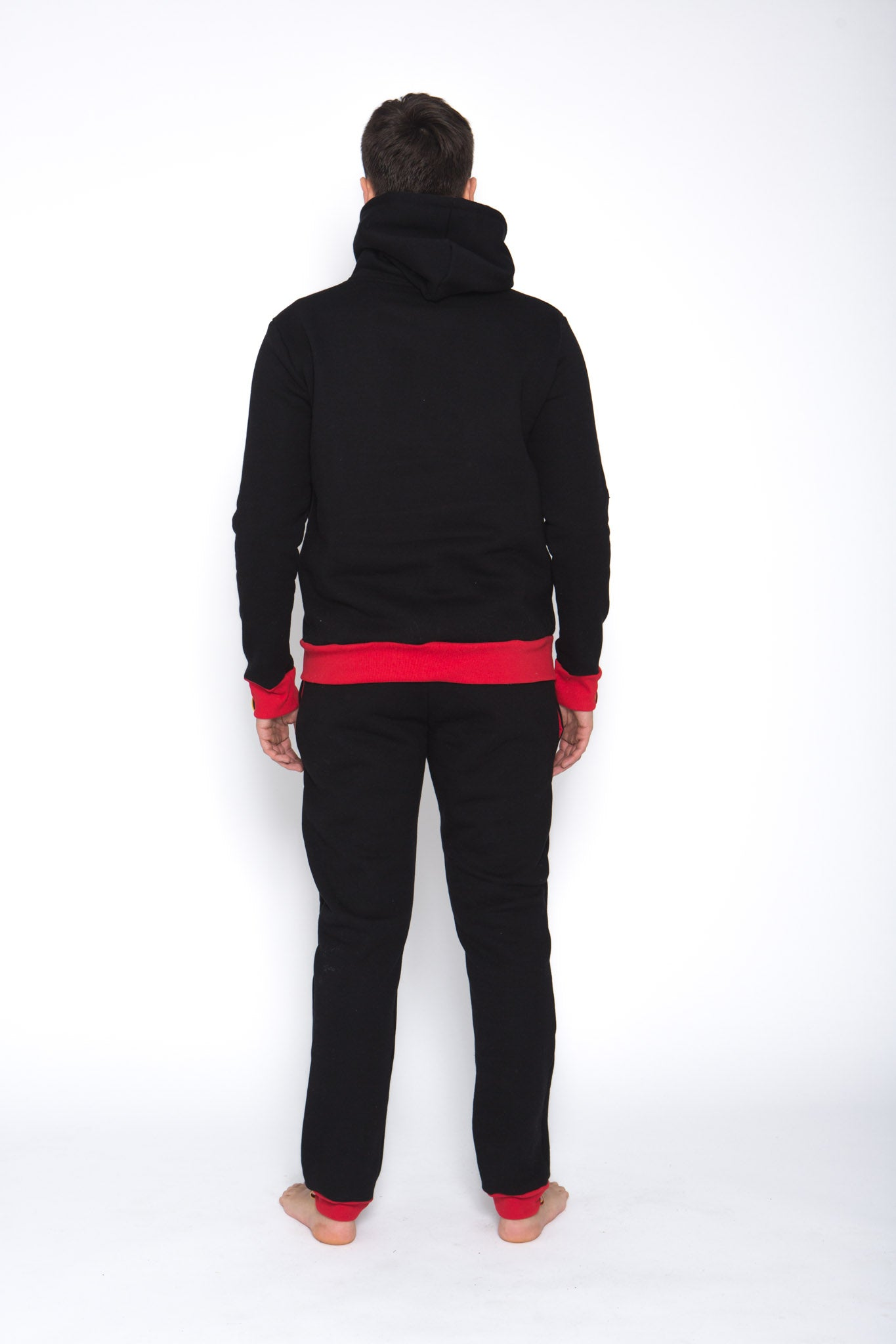 Sofa Killer warm black men hoodie with yellow cuff LTU