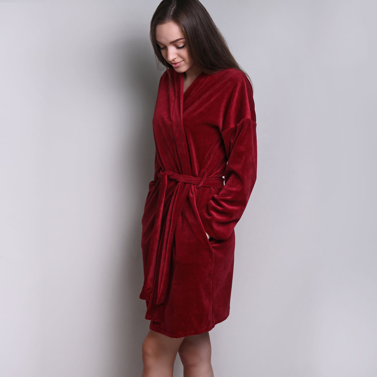 Sofa Killer burgundy velours robe