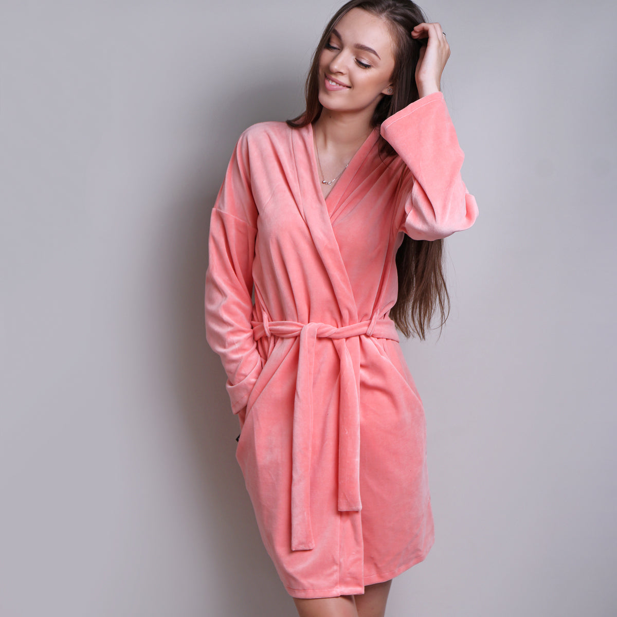 Sofa Killer peach velours robe