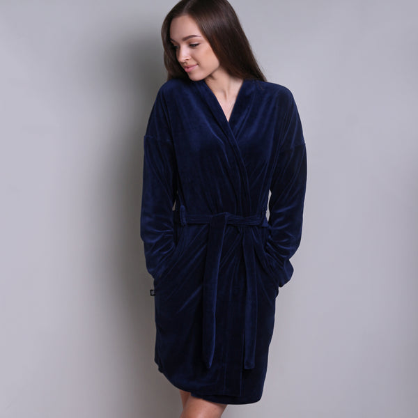 Sofa Killer dark blue velours robe