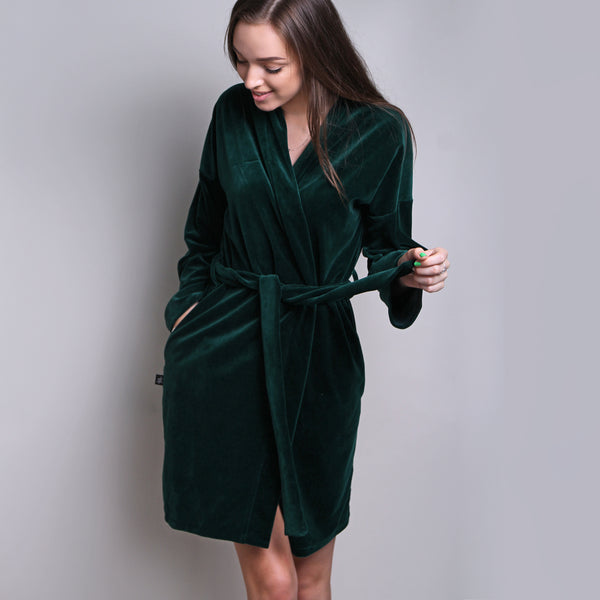 Sofa Killer emerald green velours robe