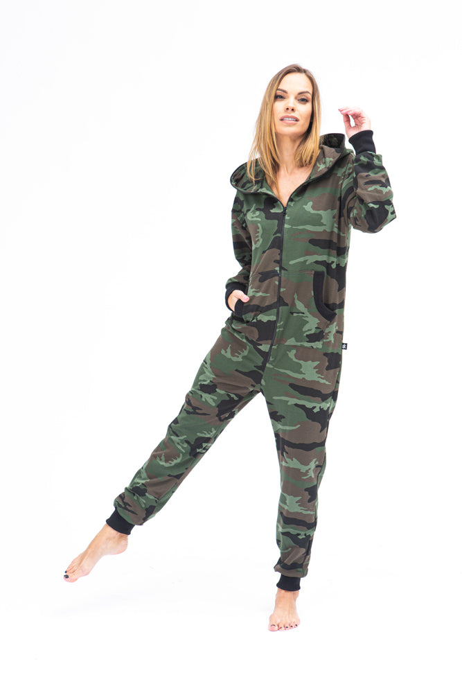 Sofa Killer women onesie with camouflage pattern CAMO