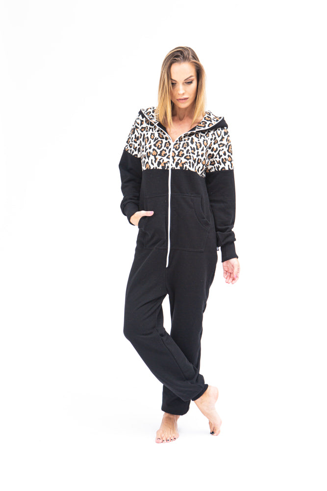 Sofa Killer black women onesie with leopard pattern LEO