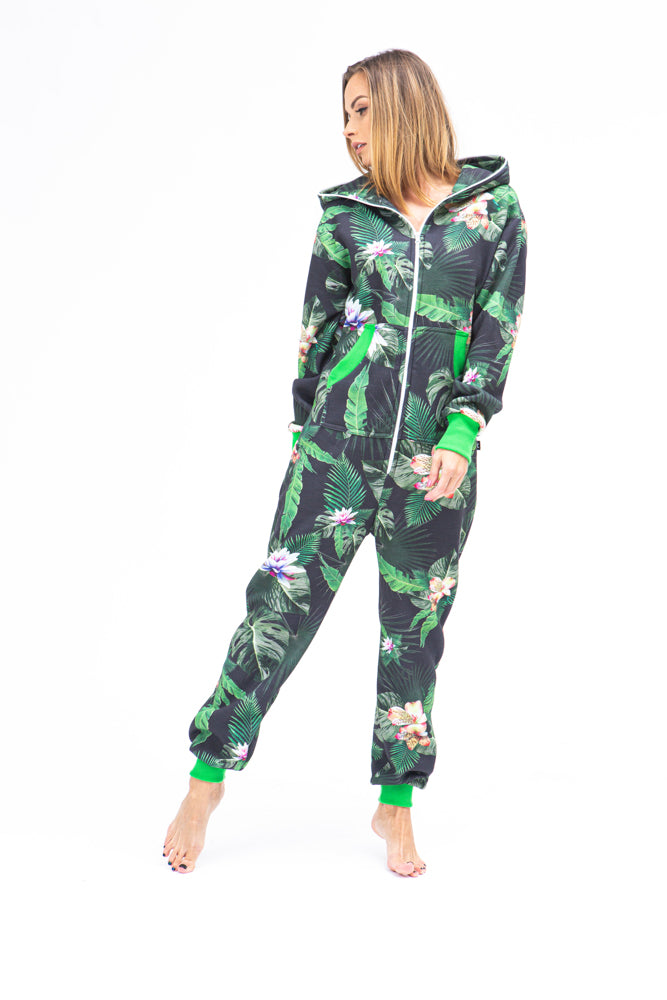 Sofa Killer women onesie with floral prints Tropical