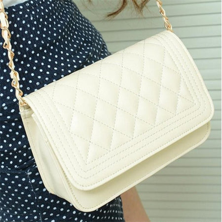 Woven Pattern Leather Shoulder Bag