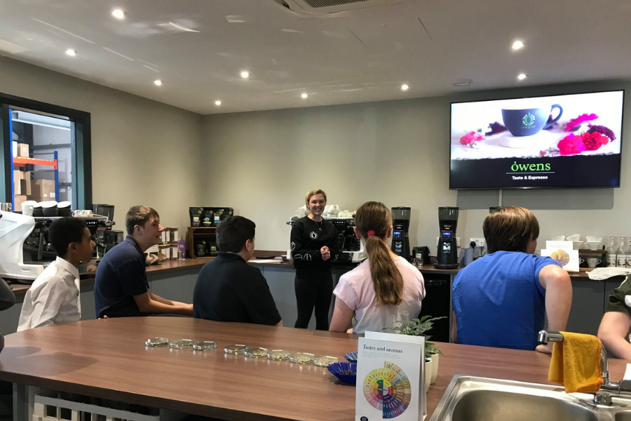 Coffee Experience for students from Springboard, a UK charity working with young people