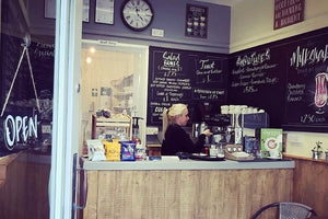Lucy's Sandwich Shop selling Owens Organic & Fairtrade Coffee!