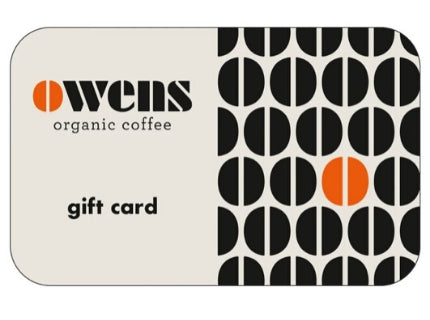 Owens Coffee Gift Card Coffee Gift Voucher