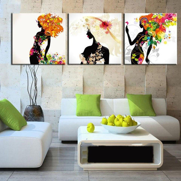 3 Panel African beautiful Women - Gaia-Stock.com