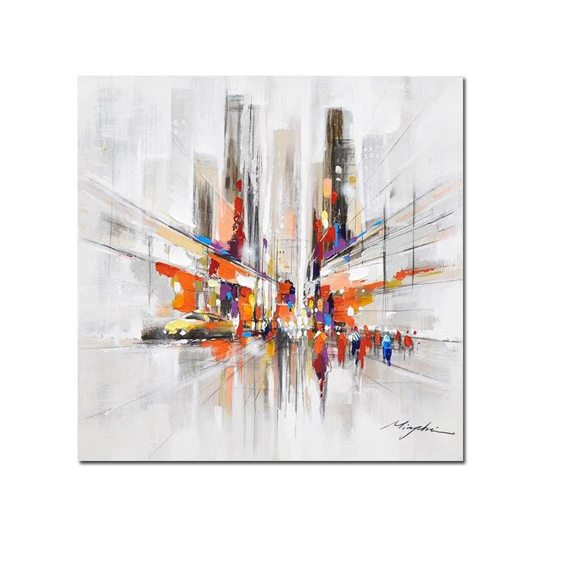 Abstract Downtown New York On Canvas - Gaia-Stock.com
