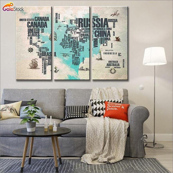 Abstract World Map in Letters - Gaia-Stock.com