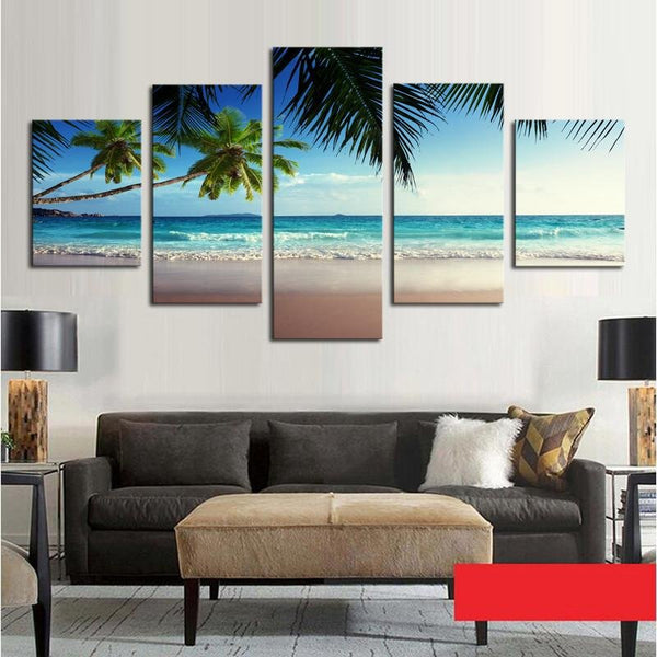 Amazing 'Coconut Tree' Beach On Canvas - Gaia-Stock.com