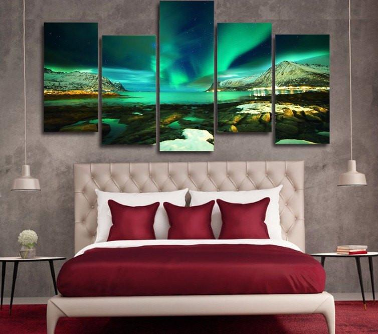 AURORA OVER ISLANDS CANVAS - Gaia-Stock.com