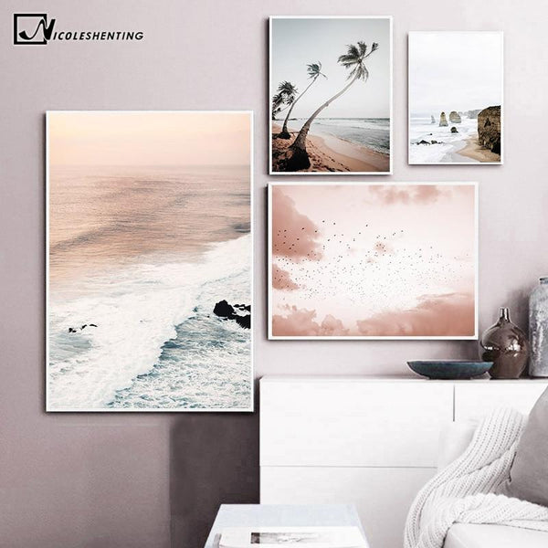 Canvas Art Print Sky Sea Sunset Painting - Gaia-Stock.com