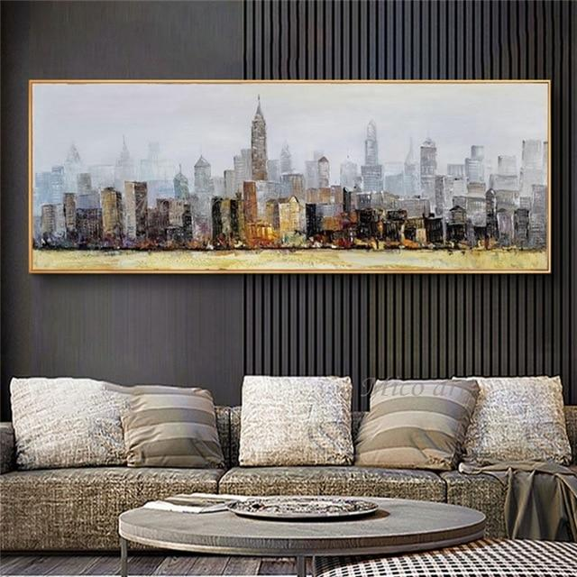 City Building 100% Hand Painted Oil Paintings on Canvas ! - Gaia-Stock.com