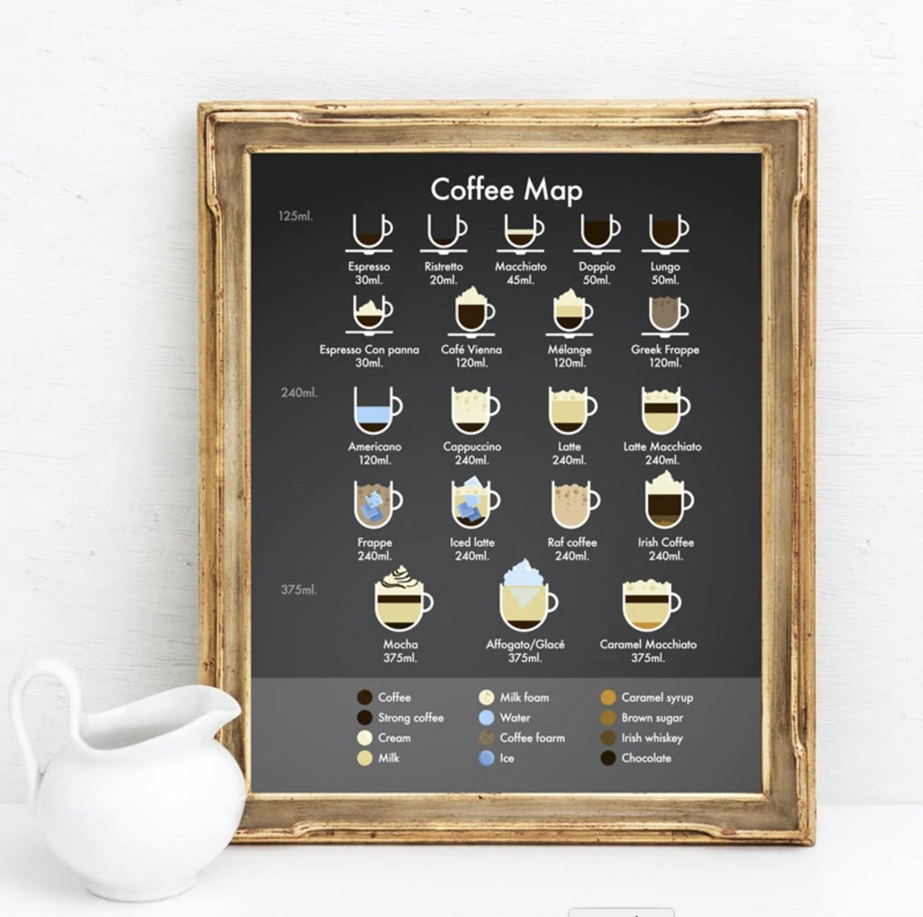 Coffee Map Menu on Canvas - Gaia-Stock.com