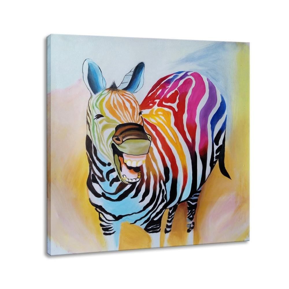 Colorful Smiling Zebra - Gaia-Stock.com