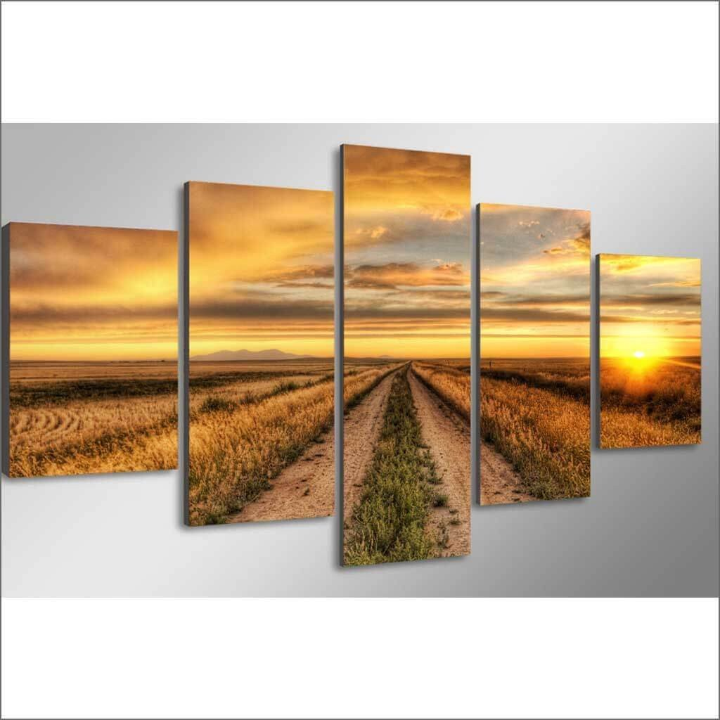 Country Road At Sunset - Canvas Limited Edition - Gaia-Stock.com