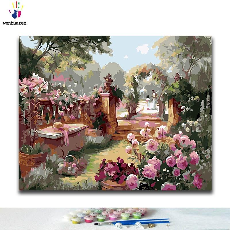 DIY Coloring paint by numbers nature & landscape - Gaia-Stock.com