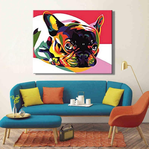 DIY paint by number pop art dog - Gaia-Stock.com