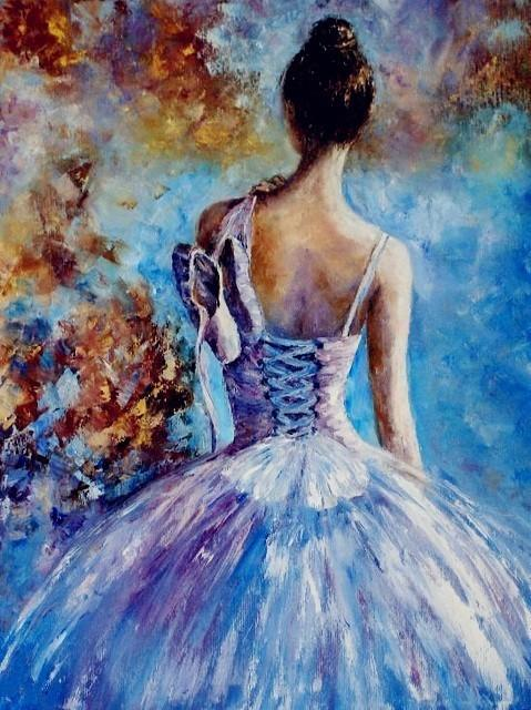 DIY Painting By Numbers Ballet Dancer - Gaia-Stock.com