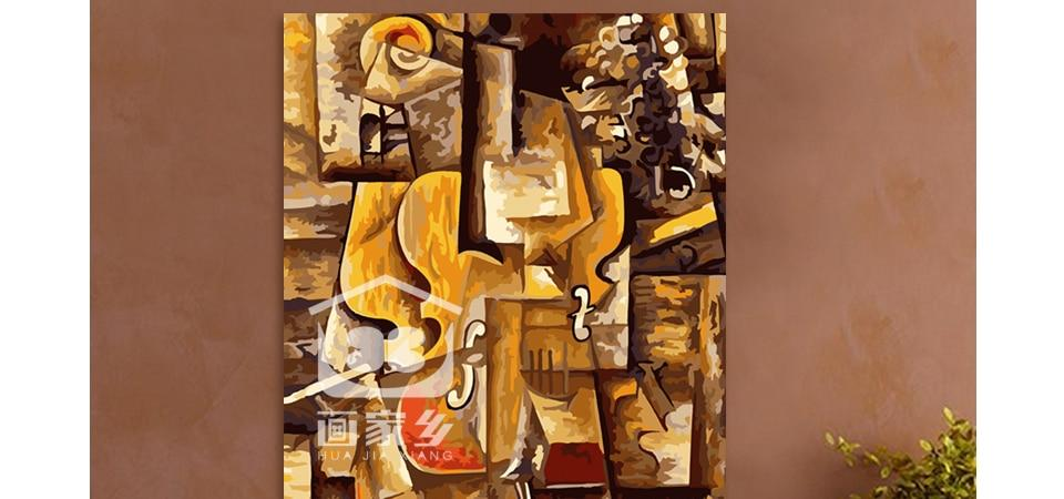 DIY painting by numbers Picasso violin, abstract - Gaia-Stock.com