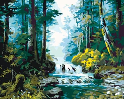 DIY Painting By Numbers Tree Landscape - Gaia-Stock.com