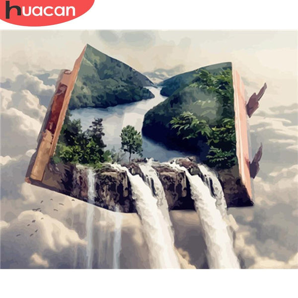 DIY Painting By Numbers Waterfall Landscape Paint - Gaia-Stock.com