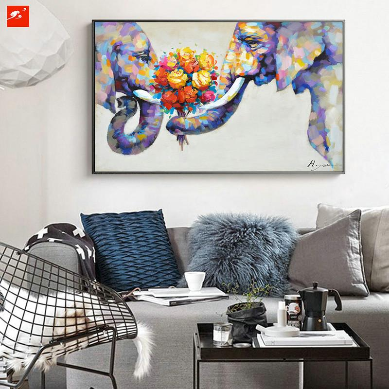 Elephant Love On Canvas - Gaia-Stock.com