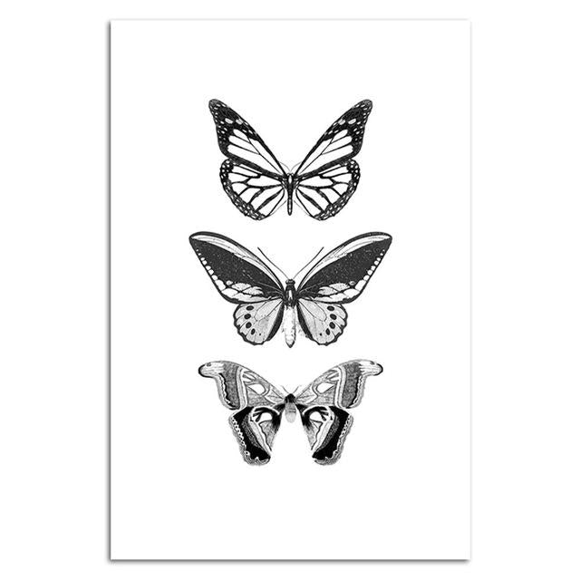 Fashion Girl Butterfly Ocean Plant Canvas Art - Gaia-Stock.com