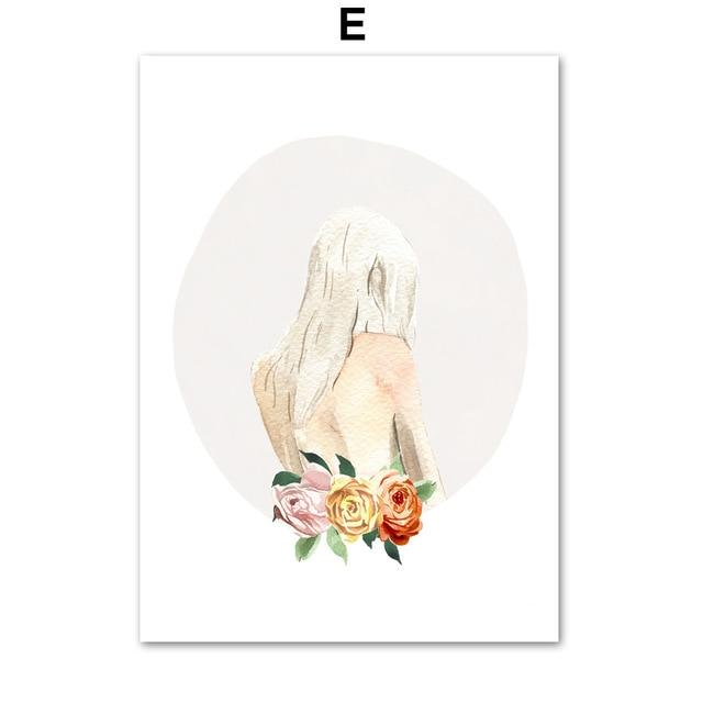 Flower Girl Face Line Abstract illustration - Gaia-Stock.com